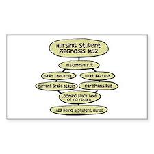 Student Nurse Diagnosis 52 Rectangle Stickers