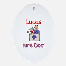 Lucas - Future Doctor Oval Ornament