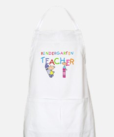 Crayons Kindergarten Teacher BBQ Apron