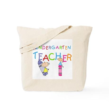 Crayons Kindergarten Teacher Tote Bag