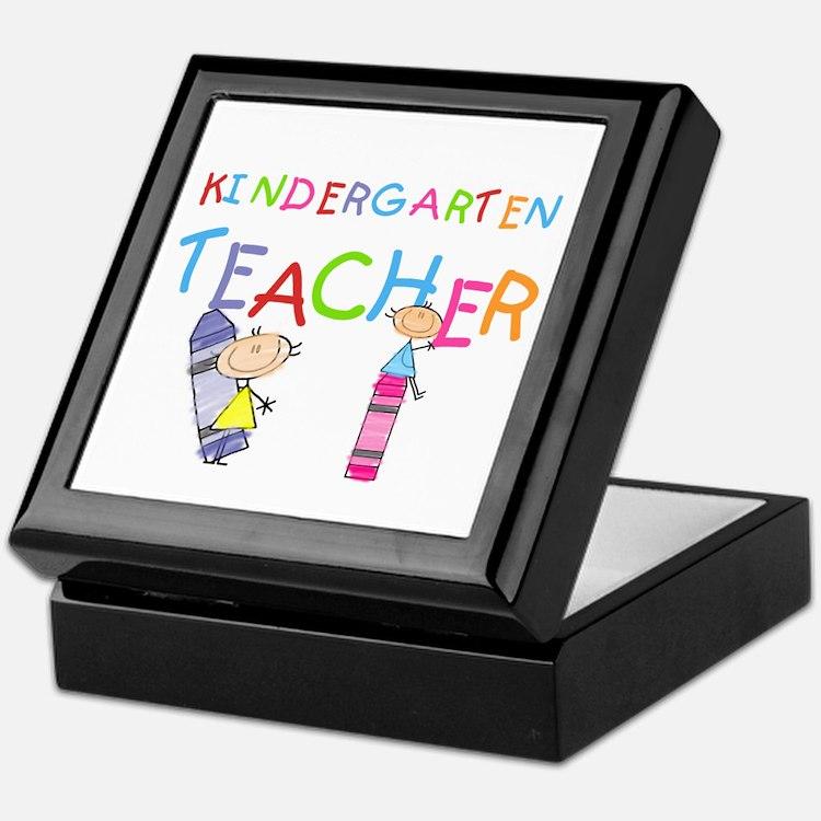Crayons Kindergarten Teacher Keepsake Box