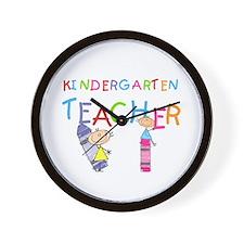 Crayons Kindergarten Teacher Wall Clock