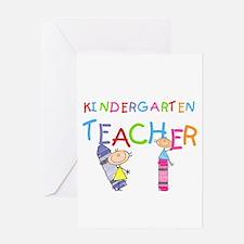 Crayons Kindergarten Teacher Greeting Card