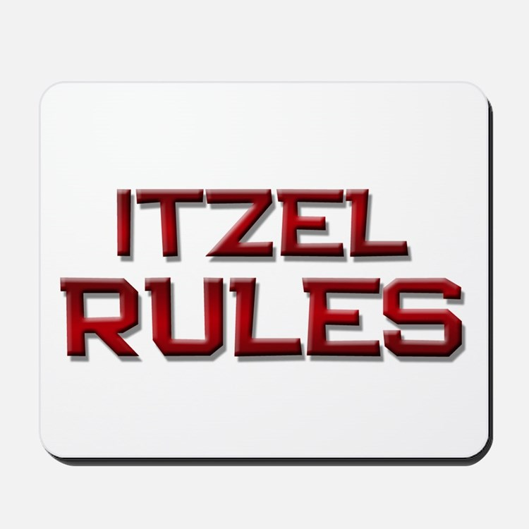 itzel rules Mousepad