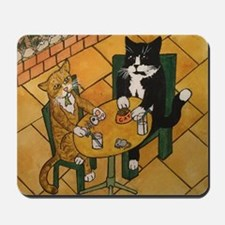 Spring Lunch Cats Mousepad