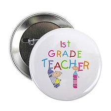 """1st Grade Teacher 2.25"""" Button (10 pack)"""
