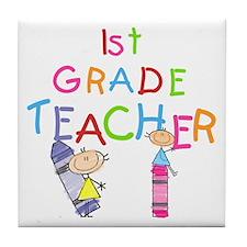 1st Grade Teacher Tile Coaster