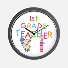 1st Grade Teacher Wall Clock