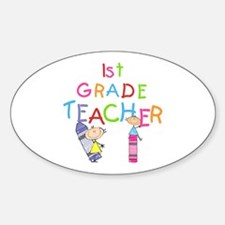 1st Grade Teacher Oval Decal
