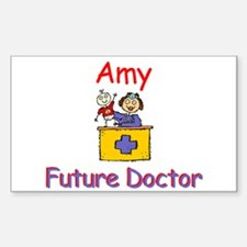 Amy - Future Doctor Rectangle Decal