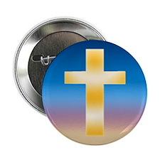 """Christian Cross 2.25"""" Button"""