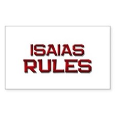 isaias rules Rectangle Decal