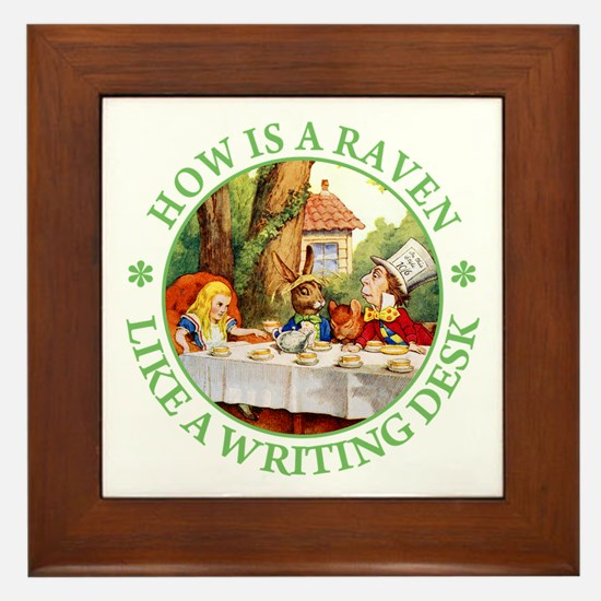 MAD HATTER'S RIDDLE Framed Tile