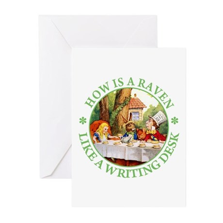 MAD HATTER'S RIDDLE Greeting Cards (Pk of 20)
