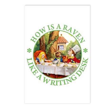 MAD HATTER'S RIDDLE Postcards (Package of 8)