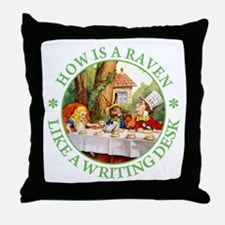 MAD HATTER'S RIDDLE Throw Pillow
