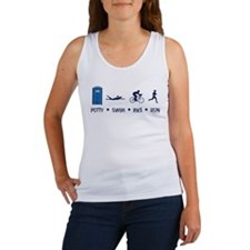 Women's Potty Swim Bike Run Women's Tank Top