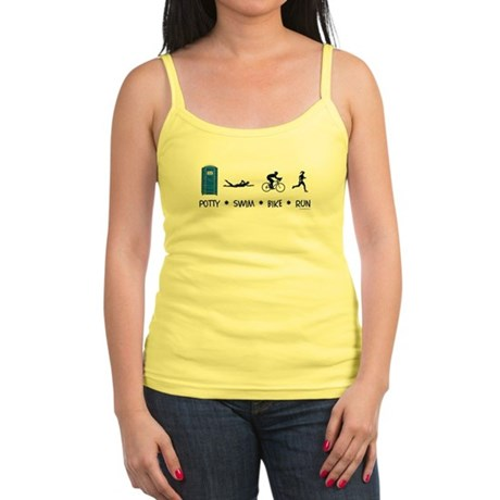 Women's Potty Swim Bike Run Jr. Spaghetti Tank
