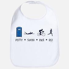 Women's Potty Swim Bike Run Bib