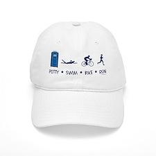 Women's Potty Swim Bike Run Baseball Cap