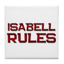 isabell rules Tile Coaster