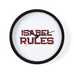 isabel rules Wall Clock