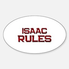 isaac rules Oval Decal