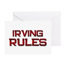 irving rules Greeting Card