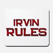 irvin rules Mousepad