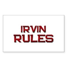 irvin rules Rectangle Decal
