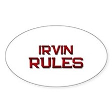 irvin rules Oval Decal