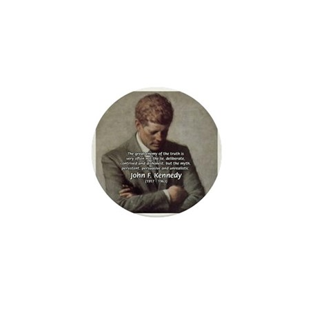 Truth Myth John F. Kennedy Mini Button (100 pack)
