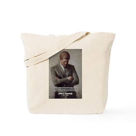 Truth Myth John F. Kennedy Tote Bag