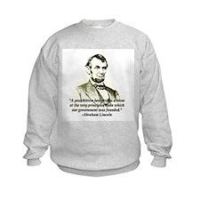 Abe on Prohibition Sweatshirt