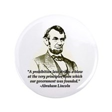 "Abe on Prohibition 3.5"" Button"