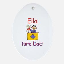 Ella - Future Doctor Oval Ornament