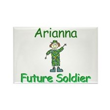 Arianna - Future Soldier Rectangle Magnet