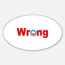 """""""Wrong"""" Oval Decal"""