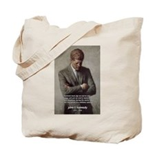 Man / War John F. Kennedy Tote Bag