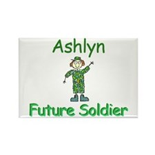 Ashlyn - Future Soldier Rectangle Magnet