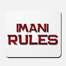 imani rules Mousepad