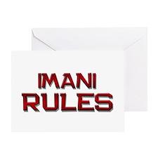 imani rules Greeting Card