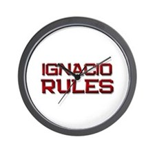ignacio rules Wall Clock