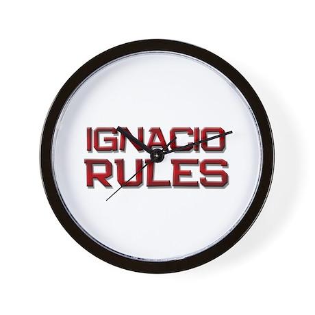 ignacio rules Wall Clock
