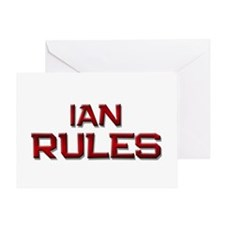ian rules Greeting Card