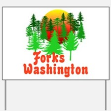 Forks Washington Twilight Yard Sign