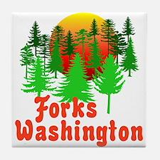 Forks Washington Twilight Tile Coaster