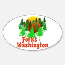 Forks Washington Twilight Oval Decal