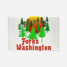 Forks Washington Twilight Rectangle Magnet