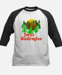 Forks Washington Twilight Kids Baseball Jersey